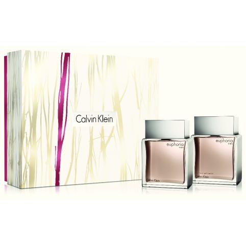 Set euphoria men edt 100ml+a/shave splash 100ml - CALVIN KLEIN. Perfumes Paris