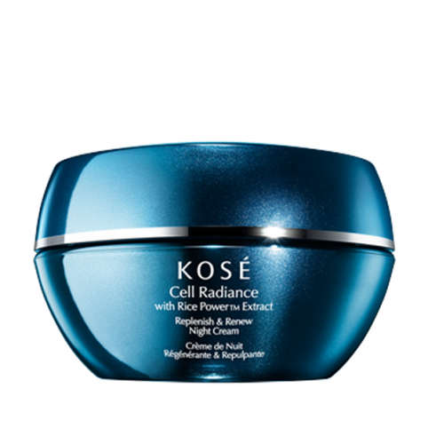 Kose cell radiance  replenish & renew night cream 40ml - KOSE. Perfumes Paris