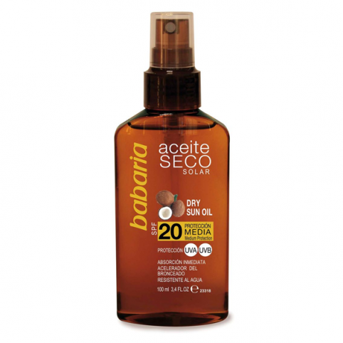 Babaria sol aceite seco coco f-20 100ml - BABARIA. Perfumes Paris