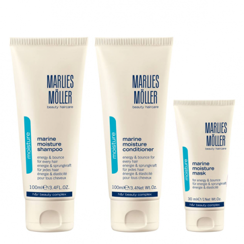 Marlies moller kit capilar 3 productos viaje cabello normal - MARLIES MOLLER. Perfumes Paris
