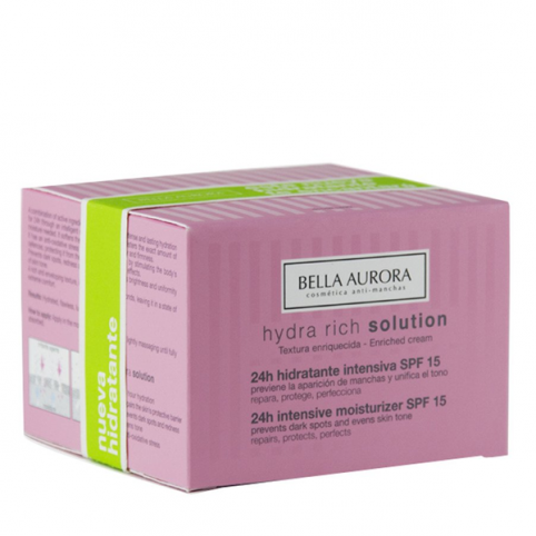 Bella aurora  hydra rich solution 24h intensiva 50ml - BELLA AURORA. Perfumes Paris
