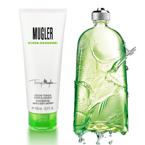 Set cologne edc 300ml+ gel 100ml@ - MUGLER. Perfumes Paris