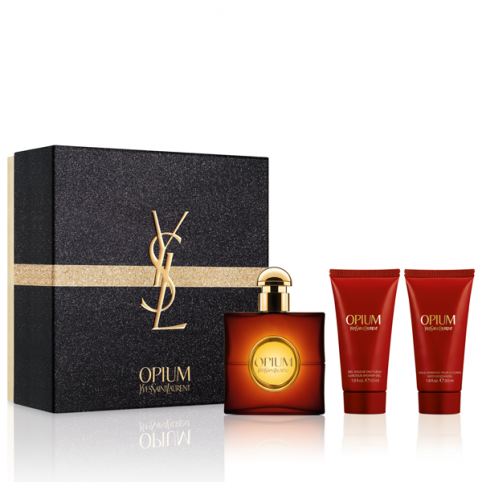 Set opium edp 50ml+leche 50ml+gel 50ml - YVES SAINT LAURENT. Perfumes Paris