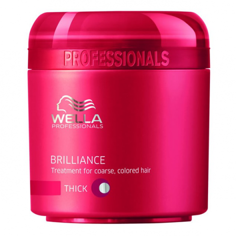 Wella brilliance mask c/ coloreados normal o grueso 150ml - WELLA. Perfumes Paris