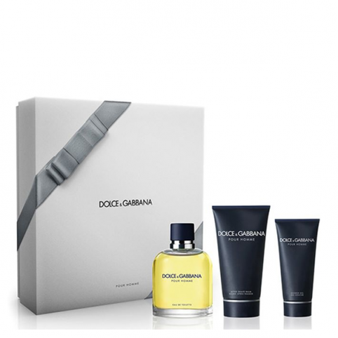 Set dolce & gabbana pour homme edt 125ml+gel 50ml+a/s balm 100ml - DOLCE & GABBANA. Perfumes Paris