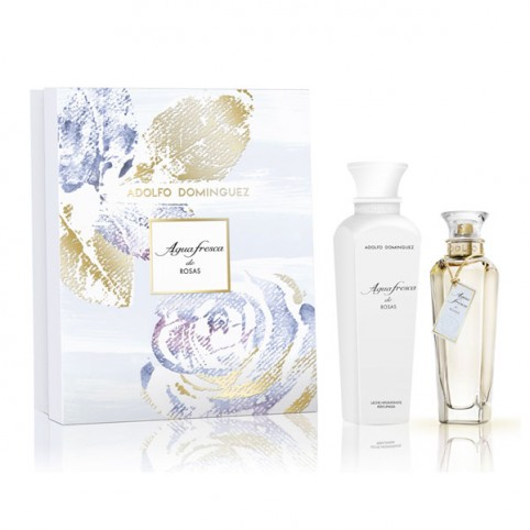 Set Agua Fresca de Rosas EDT 120ml + Body 300ml - ADOLFO DOMINGUEZ. Perfumes Paris