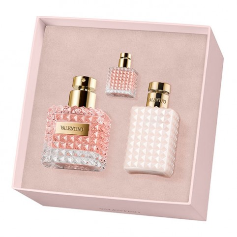Set Valentino Donna EDP 50ml + Body 100ml + MINIATURA - VALENTINO. Perfumes Paris