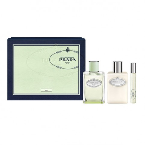 Set Prada Infusion Iris EDP 100ml + Body 100ml + Rollon 10ml - PRADA. Perfumes Paris