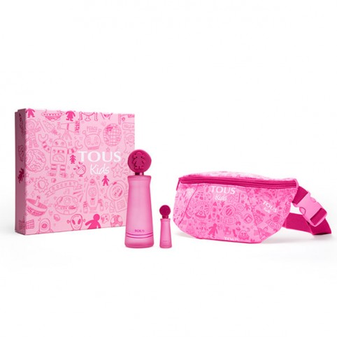 Set Tous Kids Girl EDT 100ml + Mini + Funnypack - TOUS. Perfumes Paris