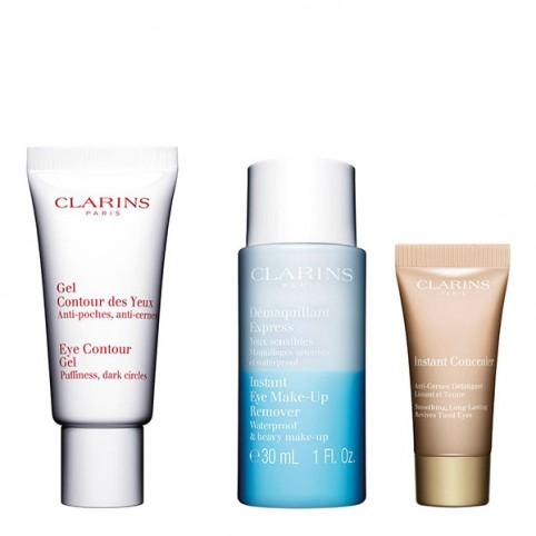 Set Clarins Gel Contorno Ojos 20ml + 2 minitallas - CLARINS. Perfumes Paris