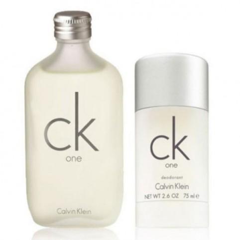 Set CK ONE EDT 100ml + Deo Stick 75ml - CALVIN KLEIN. Perfumes Paris