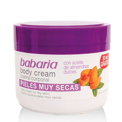Babaria crema corporal almendras 250ml - BABARIA. Perfumes Paris