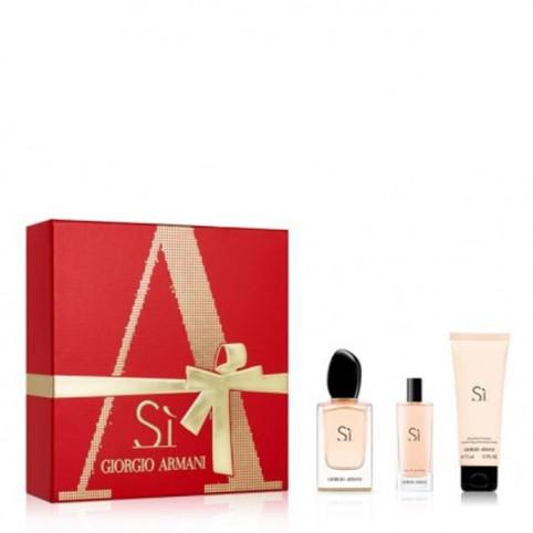 Set armani si edp 50ml+body 75ml+edp 15ml - ARMANI. Perfumes Paris