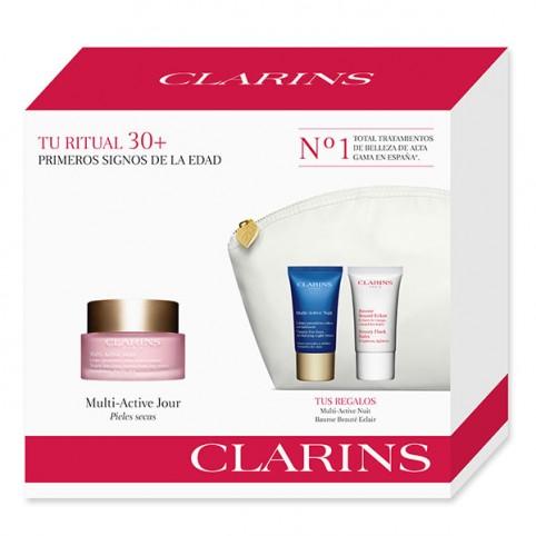 Set clarins multi activa dia ps 50ml+noche 15ml+flash 15ml - CLARINS. Perfumes Paris