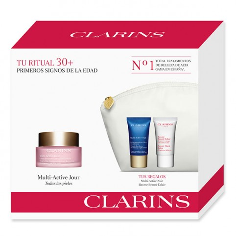 Set clarins multi activa dia tp 50ml+noche 15ml+flash 15ml - CLARINS. Perfumes Paris