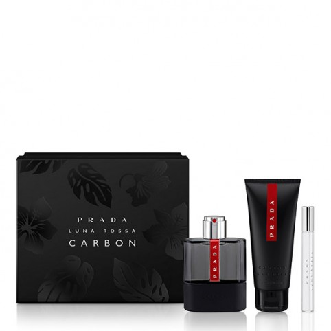 Set prada carbon edt 100ml+a/b 100ml+ m 100ml - PRADA. Perfumes Paris
