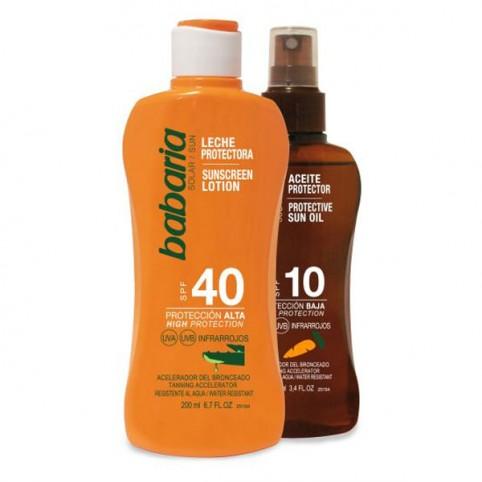 Babaria Leche Protector Solar Aloe SPF-40 - BABARIA. Perfumes Paris