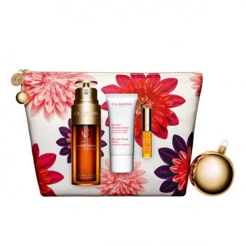 Set clarins doble serum 50ml+balsamo 30ml+mini aceite labios 04 - CLARINS. Perfumes Paris
