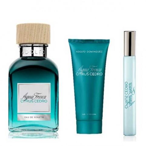 Set Agua Fresca Citrus Cedro EAU DE TOILETTE - ADOLFO DOMINGUEZ. Perfumes Paris
