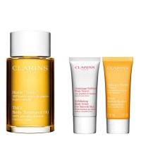 Estuche Clarins Aceite Tónico + Exfoliante Piel + Baño Tónico - CLARINS. Compre o melhor preço e ler opiniões