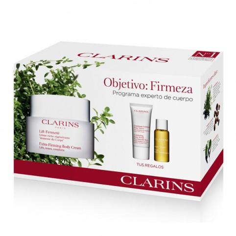 SET CLARINS LIFT FERMETE 200ML+EXFOL.PIEL NUEVA 30ML+ACEITE TONIC 10ML - CLARINS. Perfumes Paris