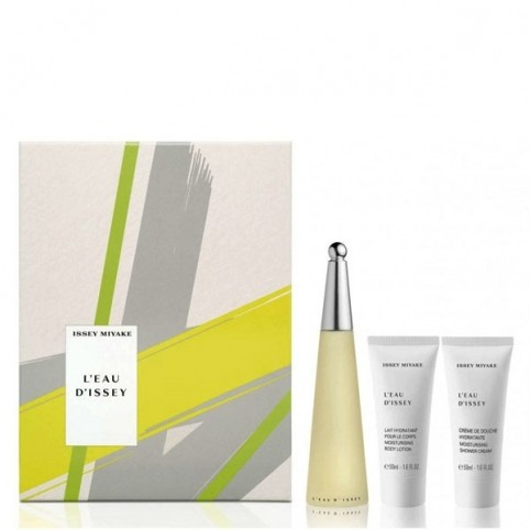 Set L'Eau D'Issey EDT 50ml + Body 50ml + Crema 50ml - ISSEY MIYAKE. Perfumes Paris