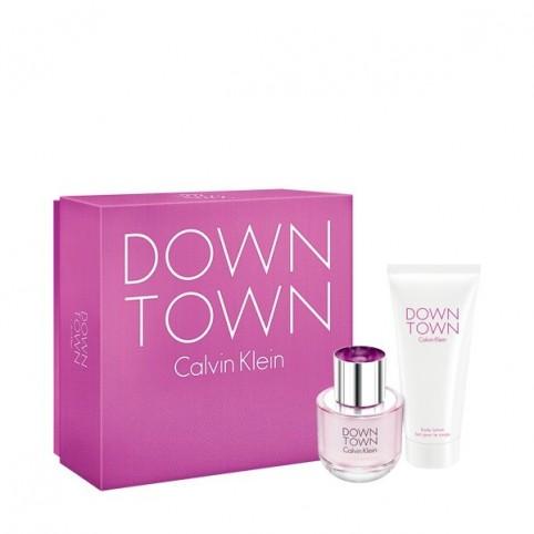 Set DownTown EDP 90ml + Body 200ml - CALVIN KLEIN. Perfumes Paris